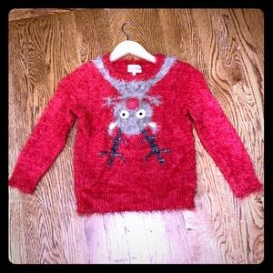 Girls Rudolph Sweater - Holiday